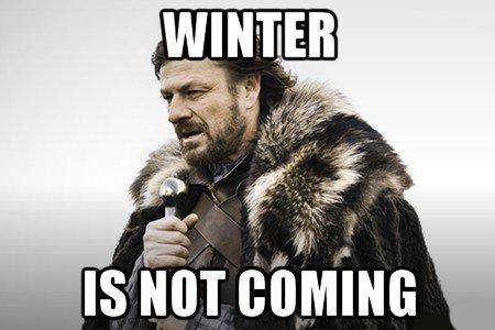 Зима не придёт Игра престолов, Зима близко