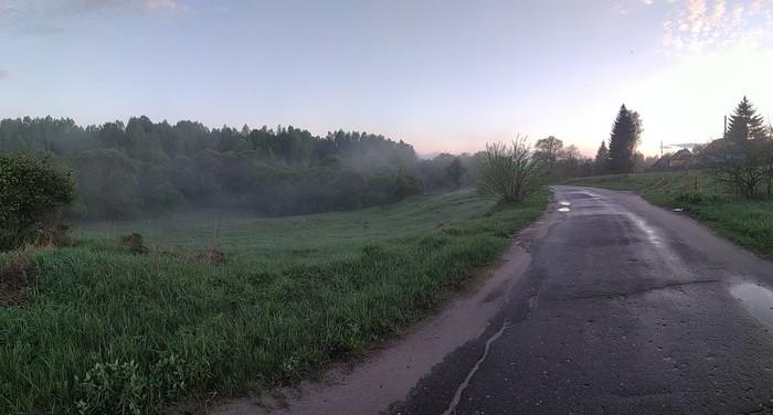 Туман после дождя Туман, Природа, Калужская область, Длиннопост, Фотография