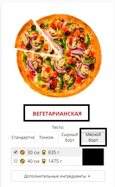 Идеальное преступление Пицца, Заказ, Веганы и мясоеды