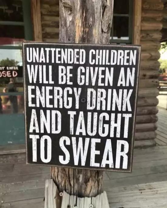 Так себе угроза Дети, Объявление, Предупреждение, Мат