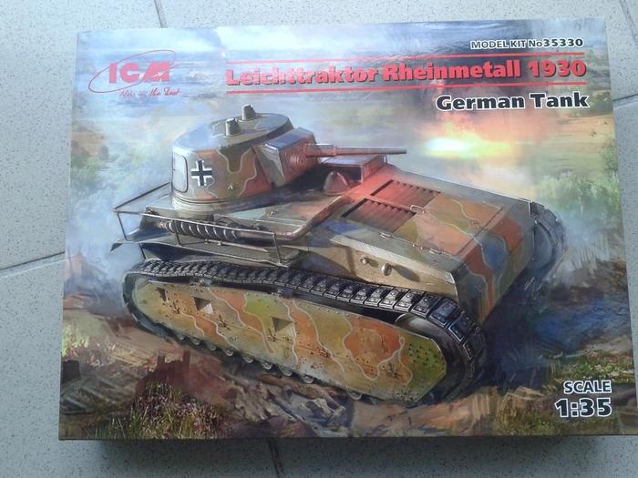 Leichttraktor Rheinmetall 1930 ICM Стендовый моделизм, Танки, Длиннопост