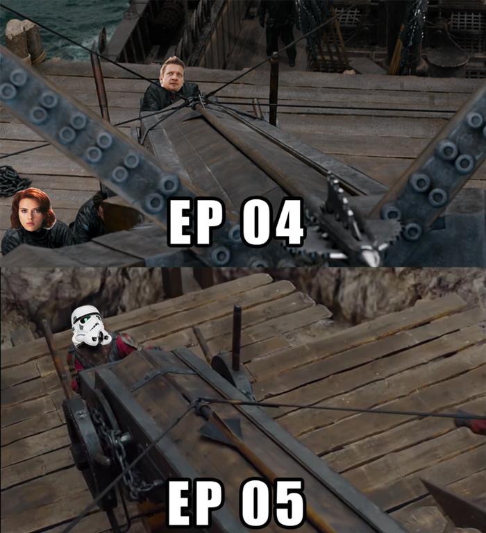 Расчеты баллист в 4 и 5 эпизодах