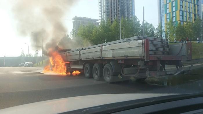 Жара в Башкирии Уфа, Камаз, Пожар, Жара