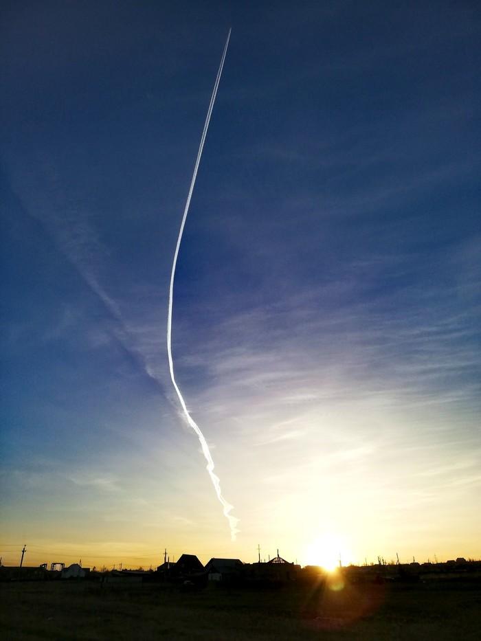 Полет на закате Пейзаж, Закат, Магнитогорск, Фотография