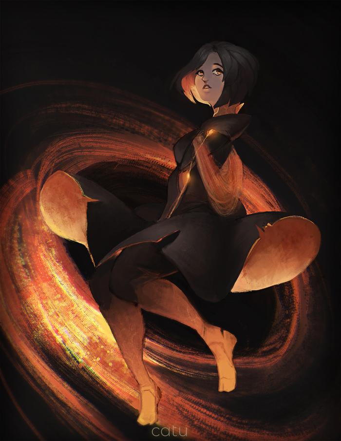 Black Hole Chan Арт, Черная дыра, Чёрная дыр, Black Hole Chan, Черная дыра-тян, Хуманизации
