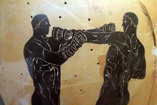 Олимпийские бойцы на древнегреческих вазах. История, Археология, Спорт, Древняя греция, Длиннопост, Панкратион