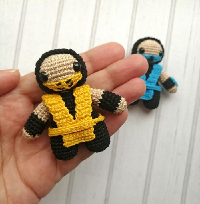MortalKombat. Вязаные персонажи Mortal Kombat, Амигуруми, Вязание крючком, Рукоделие без процесса, Длиннопост