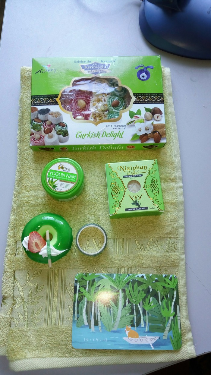 Цвет настроения-зелёный с оттенками из Москвы в Новомосковск. Отчет по обмену подарками, Обмен подарками, Зелёный цвет и его оттенки