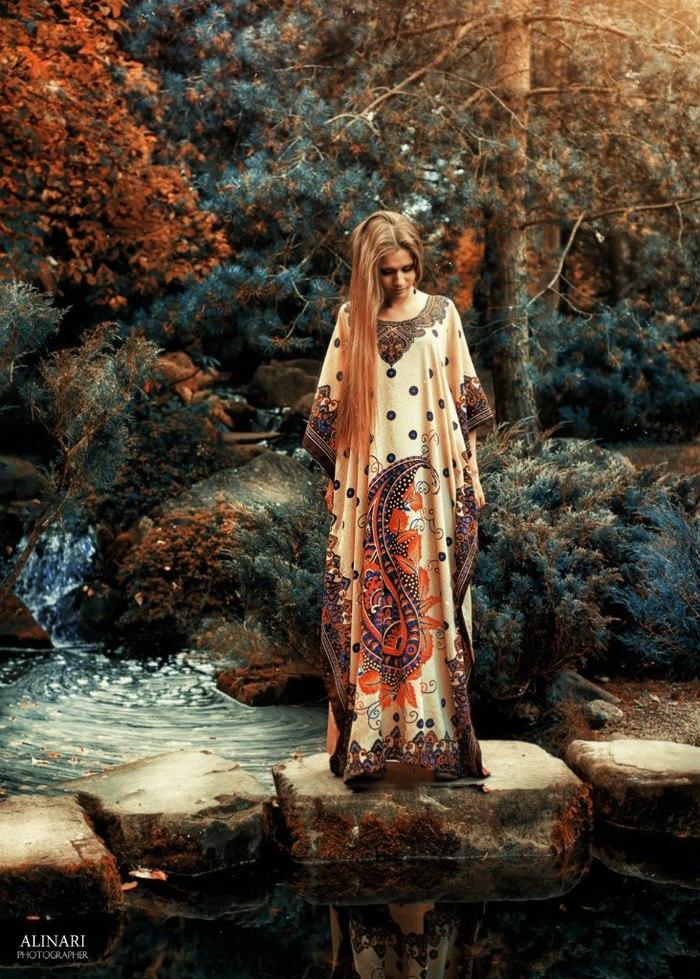 Сказочный сад Красивая девушка, Природа, Длинные волосы, Летний сад, Длиннопост