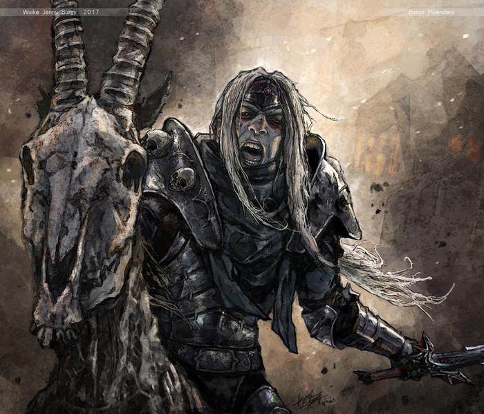 Барон Ривендер World of Warcraft, Рыцарь Смерти, Арт
