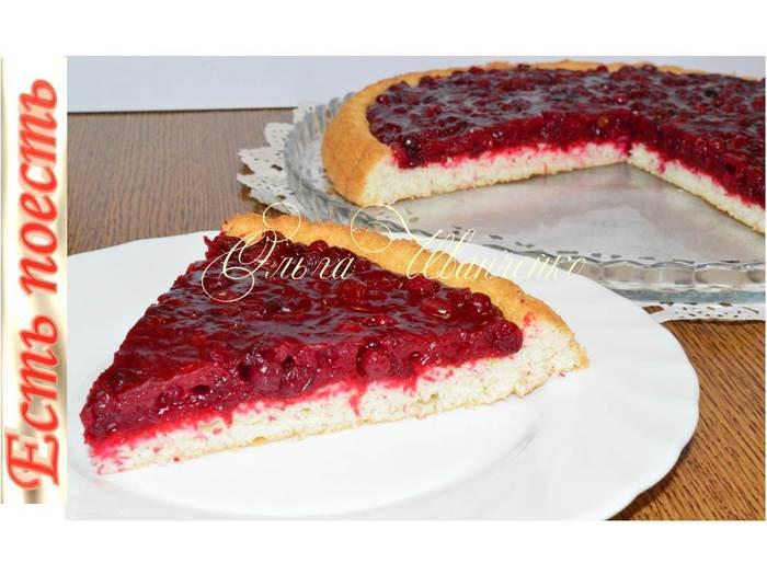 Пирог с ягодами - готов за 25 минут. Кулинария, Рецепт, Видео рецепт, Пирог, Бисквит, Ягоды, Выпечка, Видео, Длиннопост