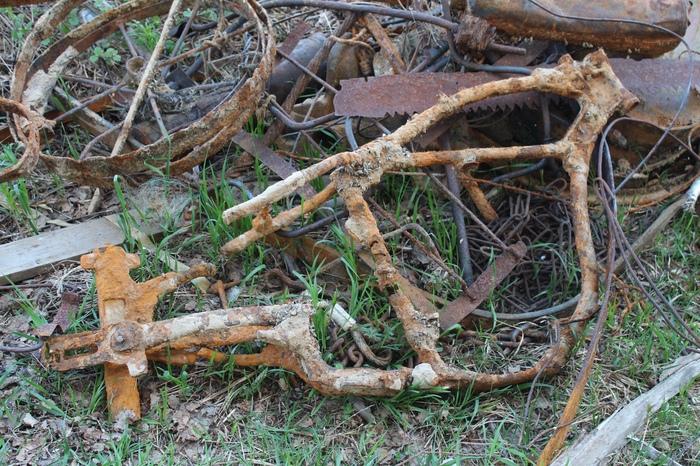 Рама от Харли-Дэвидсона пролежала в воде около 50 лет Мотоциклы, Старье