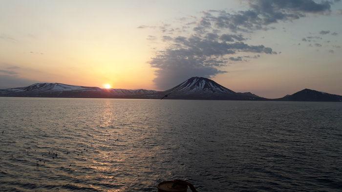 Закат над Курилами. Закат, Фотография, Курильские острова, Море