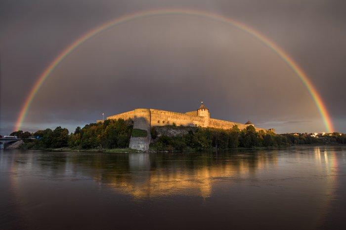 Радуга над Иван-городом Фотография, Ивангород, Радуга, Красота