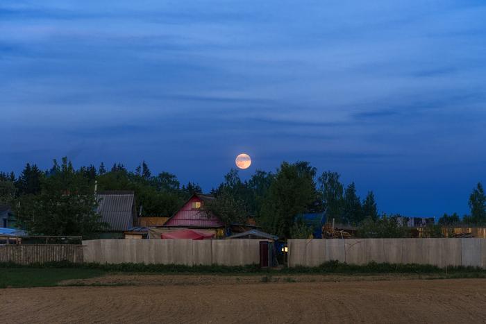Восход полной луны Фотография, Луна, Пейзаж, Беларусь, Могилев, Nikon, Вечер