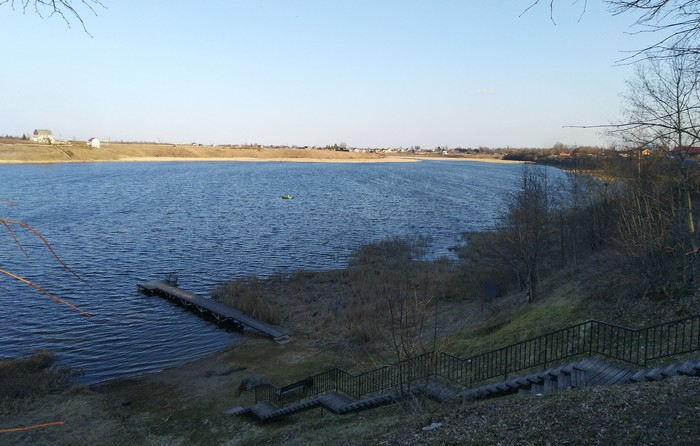 Красивые места у воды в Пскове. Река, Вода, Красота, Природа, Псков