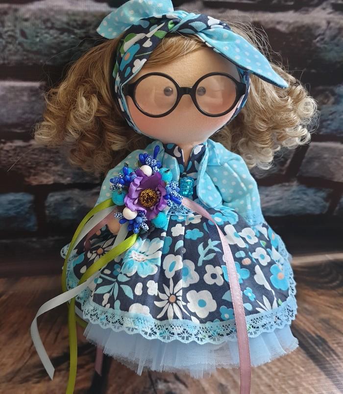 Куколка в очках Кукла, Своими руками, Ручная работа, Рукоделие без процесса, Рукоделие, Подарок, Длиннопост