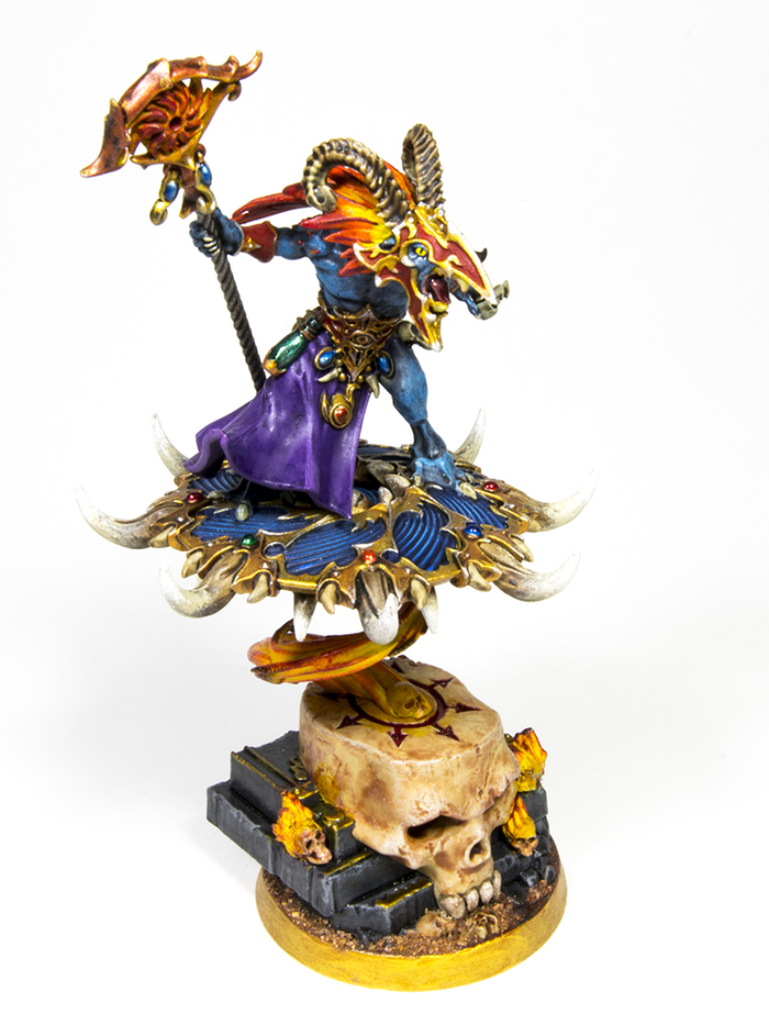 Tzaangor Shaman Warhammer 40k, Wh miniatures, Хаос, Tzeentch, Миниатюра, Роспись, Хобби, Длиннопост