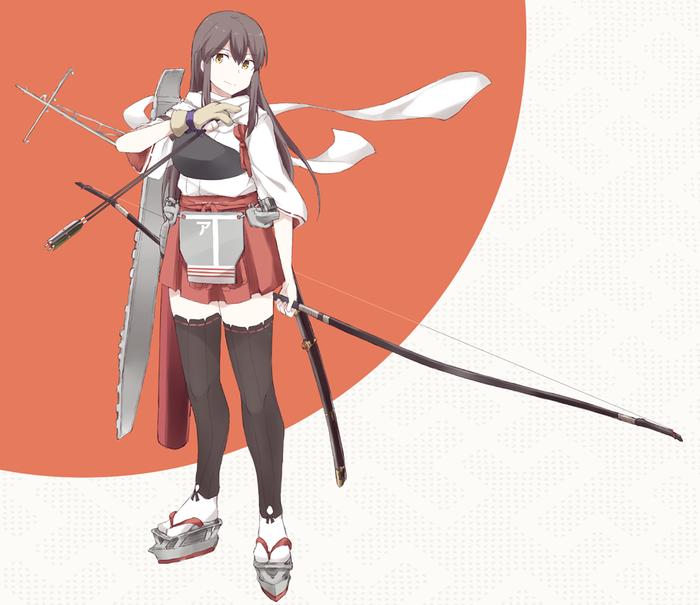 Akagi Kai Ni Kantai Collection, Akagi, Аниме, Anime Art
