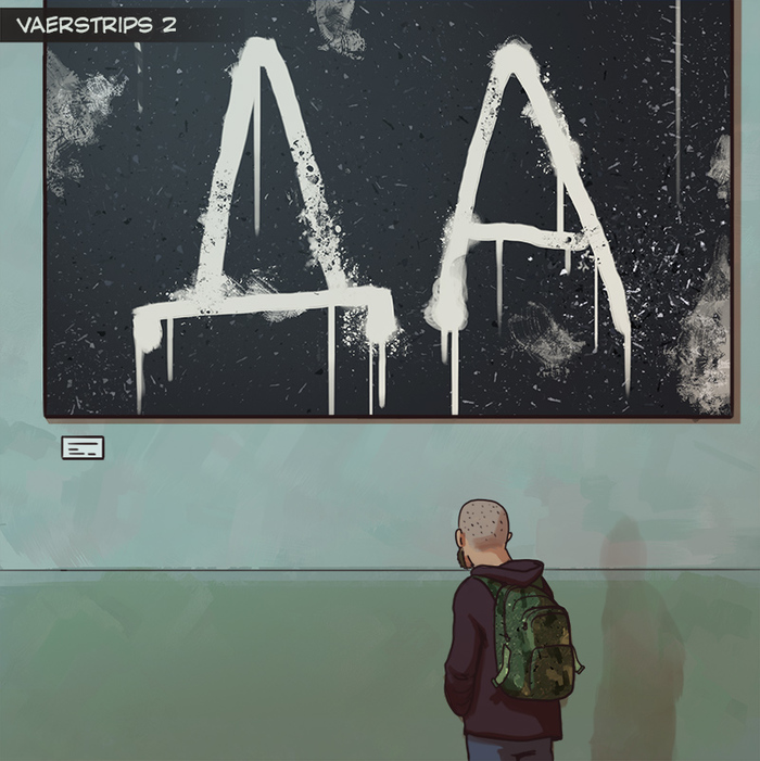 Vaerstrips 2 - Выставка Vaerstrips, Комиксы, Юмор, Искусство, Длиннопост