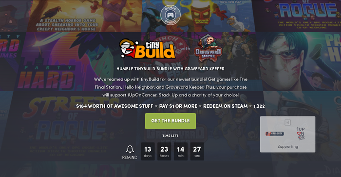 HUMBLE TINYBUILD BUNDLE Humble Bundle, Steam, Не халява, Длиннопост
