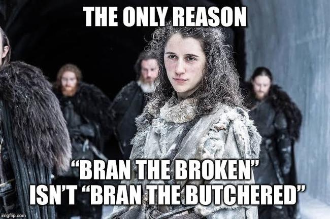 """Единственная причина, почему """"Бран Калека"""" не стал """"Браном Зарезанным"""" Игра Престолов, Спойлер, Reddit"""