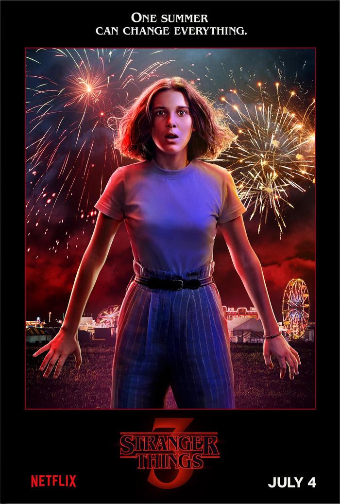 Постеры персонажей 3-го сезона сериала «Очень странные дела» Сериалы, Очень странные дела, Netflix, Постер, Длиннопост