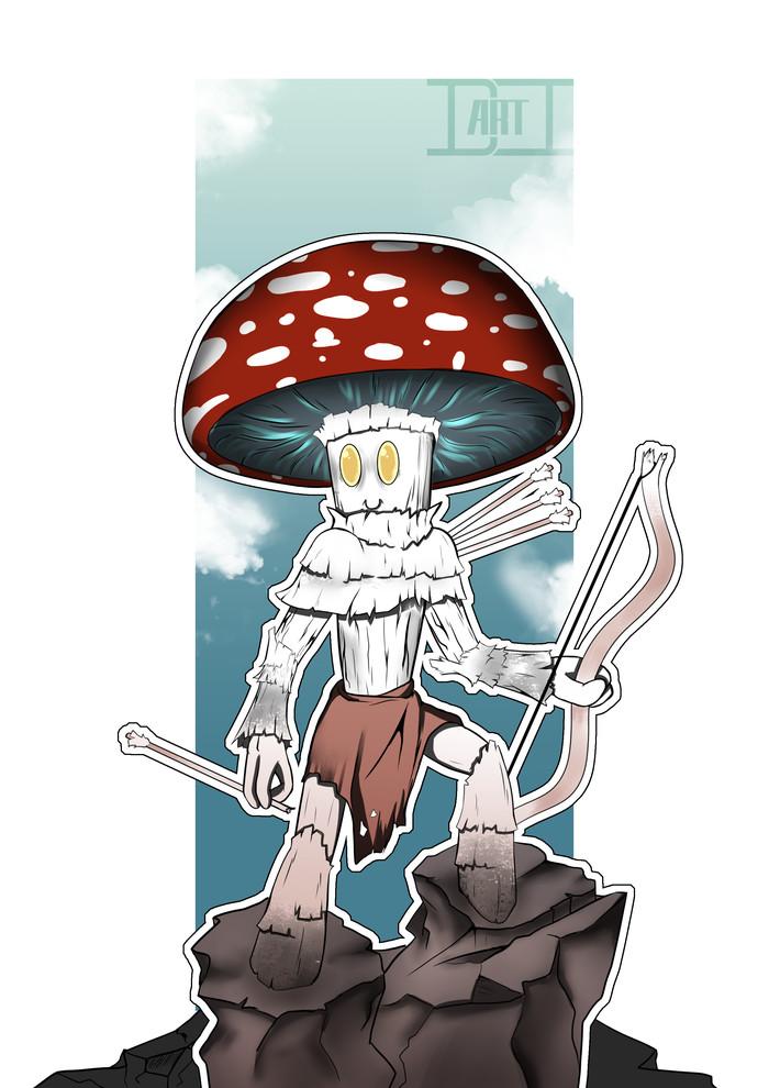 Персонаж для игры в D&D грибнит следопыт Dungeons & Dragons, Создание персонажа, Арт, Концепт-Арт, Dnd 5