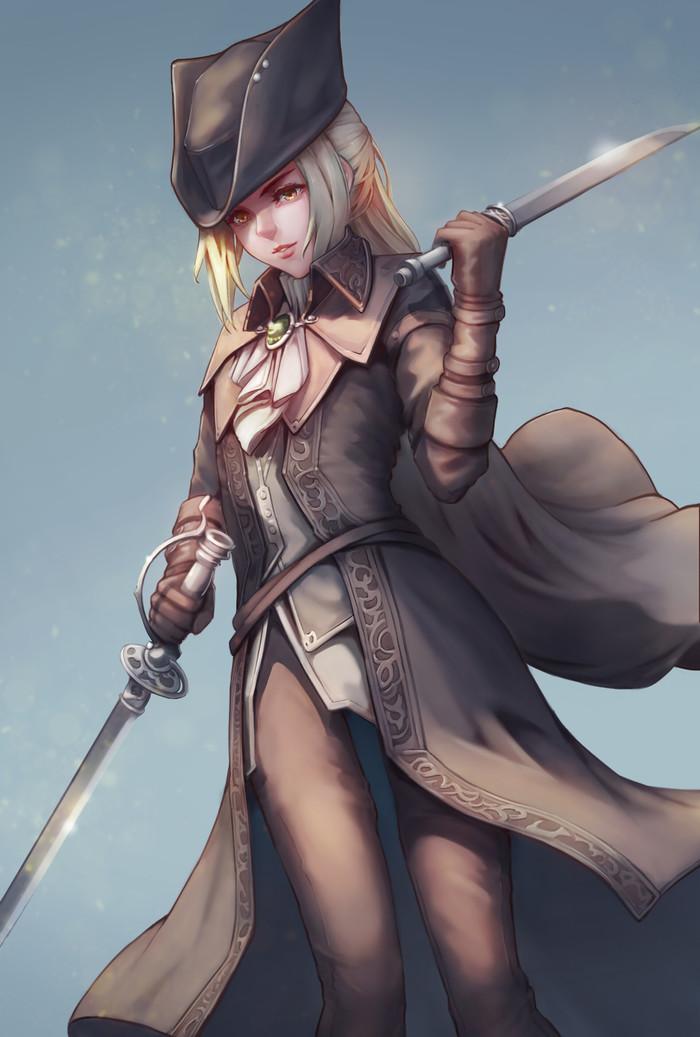 Леди Мария Bloodborne, Lady Maria, Арт, Компьютерные игры, Игры