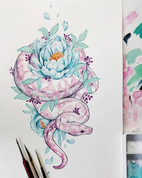Вышивка змеи на ветровке Вышивка, Машинная вышивка, Змея, Цветы, Творчество, Длиннопост