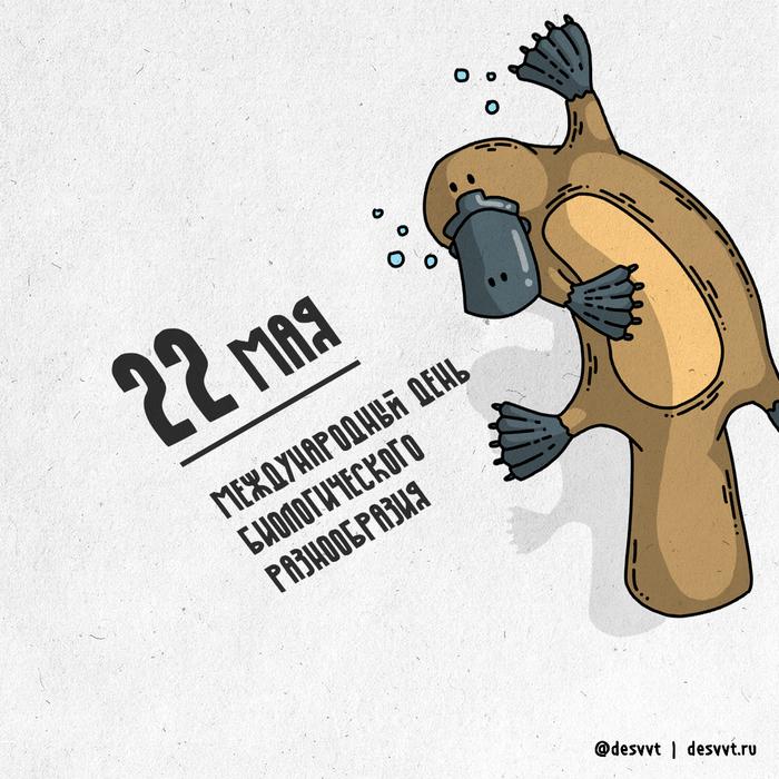 (173/366) 22 мая день биологического многообразия! Проекткалендарь2, Многообразие видов, Утконос, Австралия, Рисунок, Иллюстрации, Биология