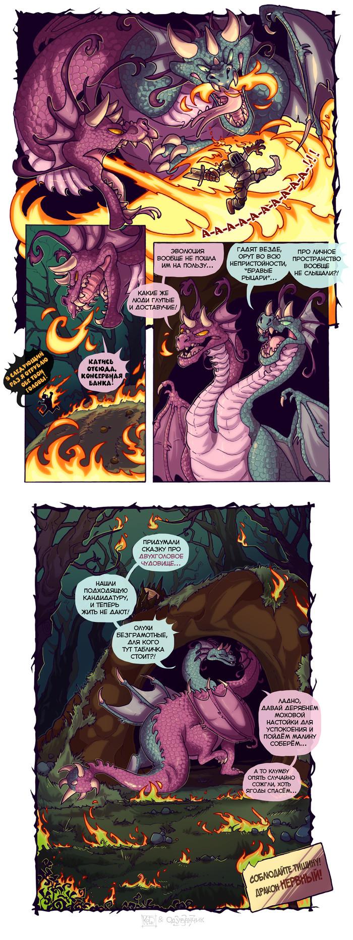 Дурацкие люди. Koda, Комиксы, Арт, Дракон, Рыцарь, Длиннопост
