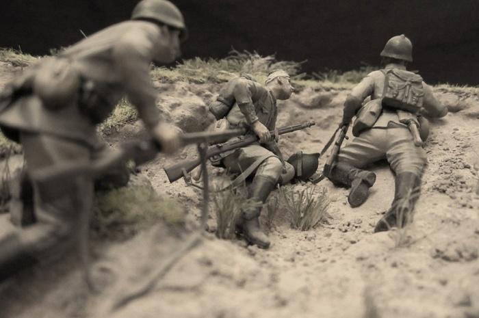 Перед атакой Моделизм, Стендовый моделизм, Длиннопост, Великая отечественная война