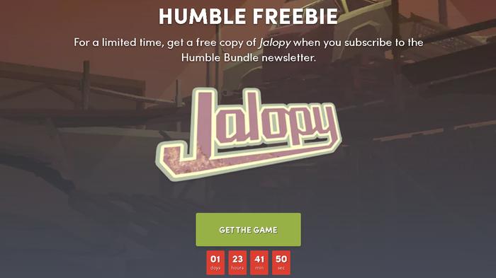 На сайте Humble Bundle началась раздача ключей Jalopy Steam, Халява, Без рейтинга, Humble bundle