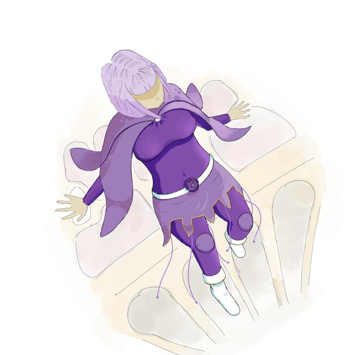 Девушка в фиолетовом Цифровой рисунок, Девушки