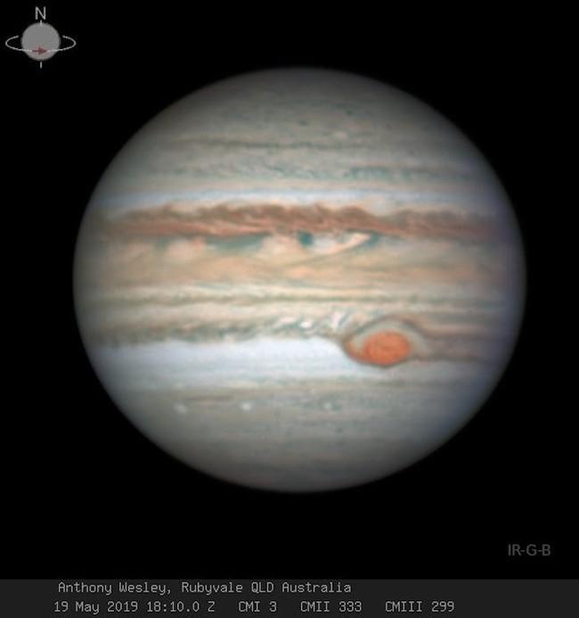 Таинственные изменения Большого красного пятна на Юпитере Астрономия, Юпитер, Шторм, Космос, Наука, Новости, Длиннопост