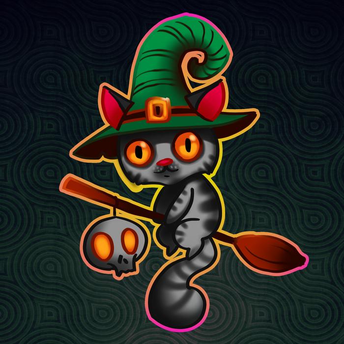 Котейки. Кот, Костюм, Хэллоуин, Пираты, Рисунок, Длиннопост