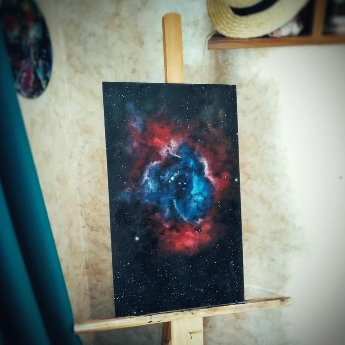 Rosette Nebula (NGC 2237) from me Katie Shapo Art, Ngc 2237, Rosette Nebula, Наркотики, Звёзды, Арт, Космос, Длиннопост