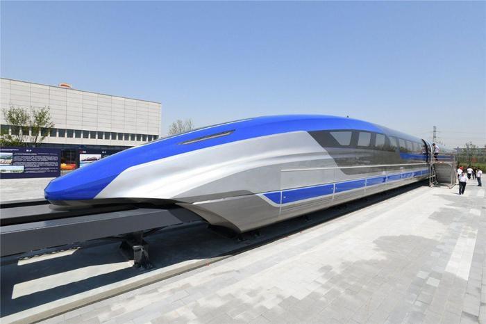 Прототип нового китайского маглева Китай, Маглев, Прототип, Длиннопост