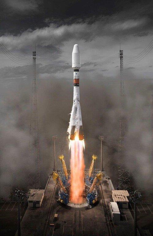 """Запуск """"Союза"""" в Гвианском космическом центре"""