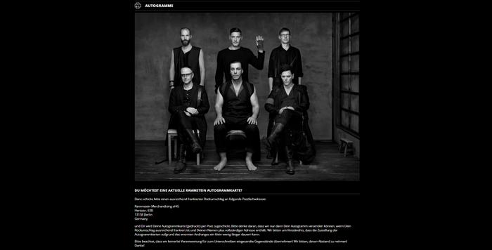 А знаете ли вы, что на официальном сайте Rammstein можно получить по почте автограф немецкого музыкального коллектива? Письмо, Почта, Rammstein