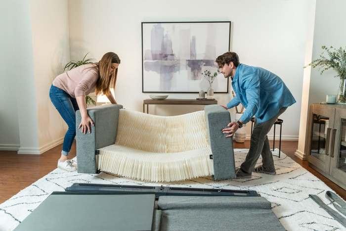 Дивный «слон в коробке» или «диван-аккордеон» Диван, Мебель, Инновации, Технологии, Длиннопост