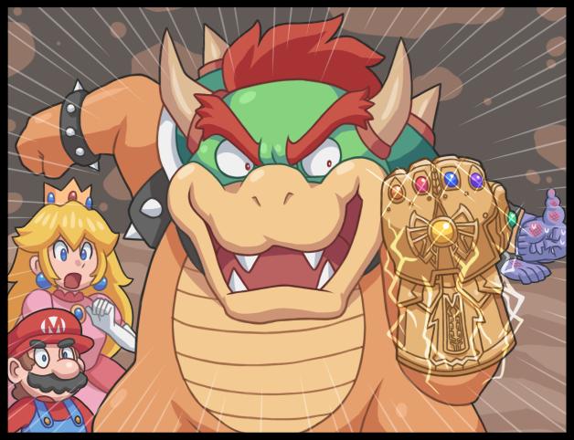 The crossover nobody asked for Комиксы, Игры, Марио, Princess Peach, Ayyk92, Bowser, Юмор, Длиннопост, Перчатка бесконечности
