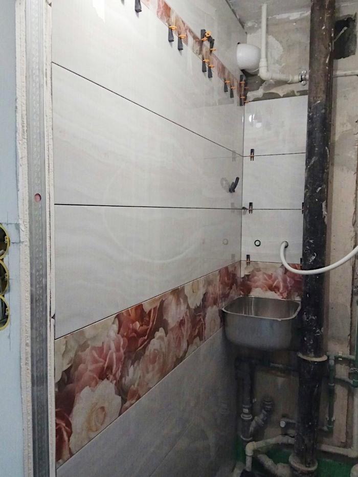 Миниатюрный туалет с РАКОВИНОЙ. До/После