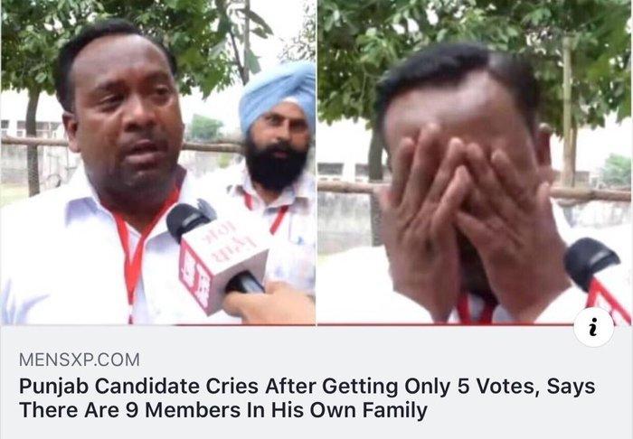Когда даже семья против тебя Выборы, Разочарование, Семья, Fail, Пенджаб
