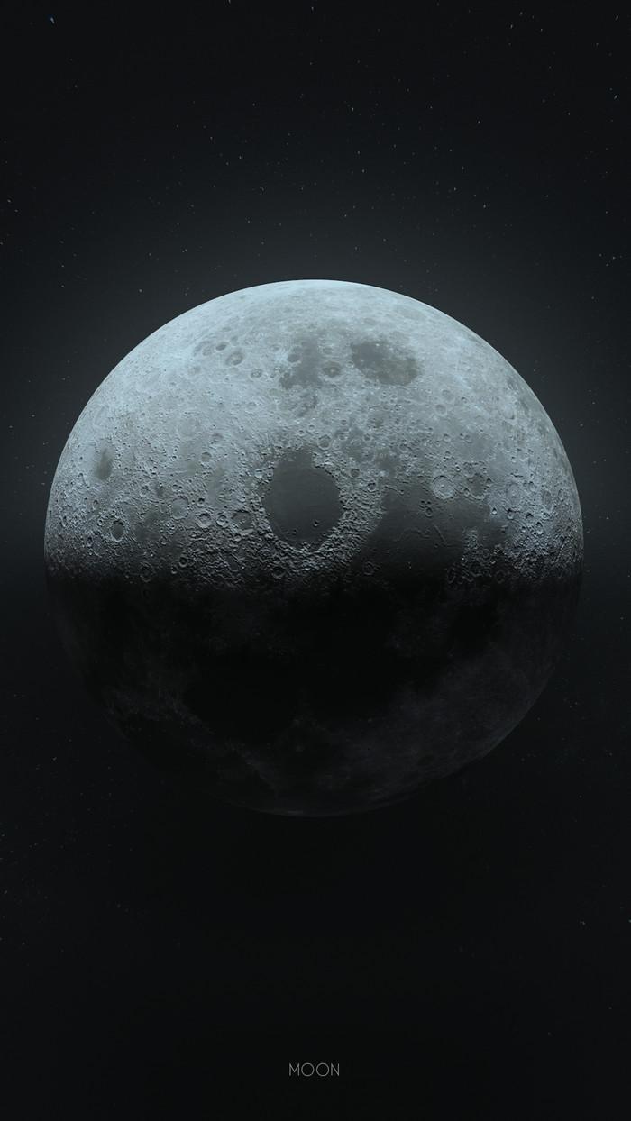 Фотография или CG? Луна, Космос, Планеты и звезды, Картинки, Blender, Графика, Компьютерная графика