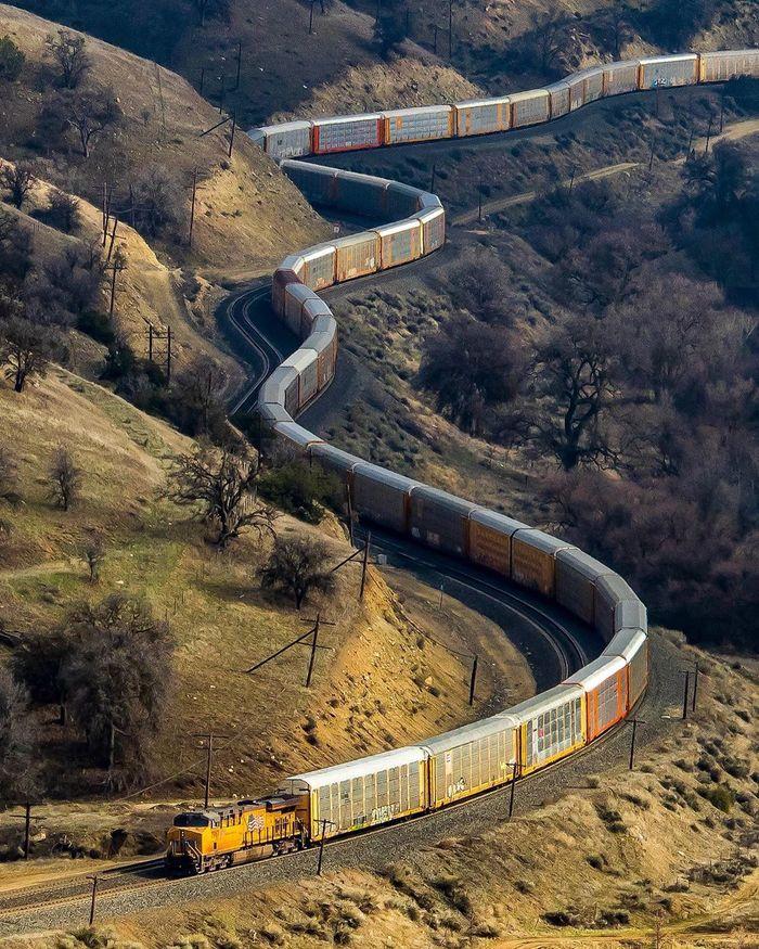 Удивительная железная дорога Железная Дорога, Поезд, США