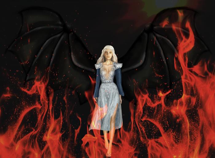 Мать драконов Арт, Дейенерис Таргариен, Игра престолов, Эмилия Кларк