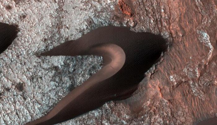 Еще одно отличие Марса от Земли — образование песчаных холмов происходит с разной скоростью Снимки из космоса, Марс, Планета Земля, Открытия ученых