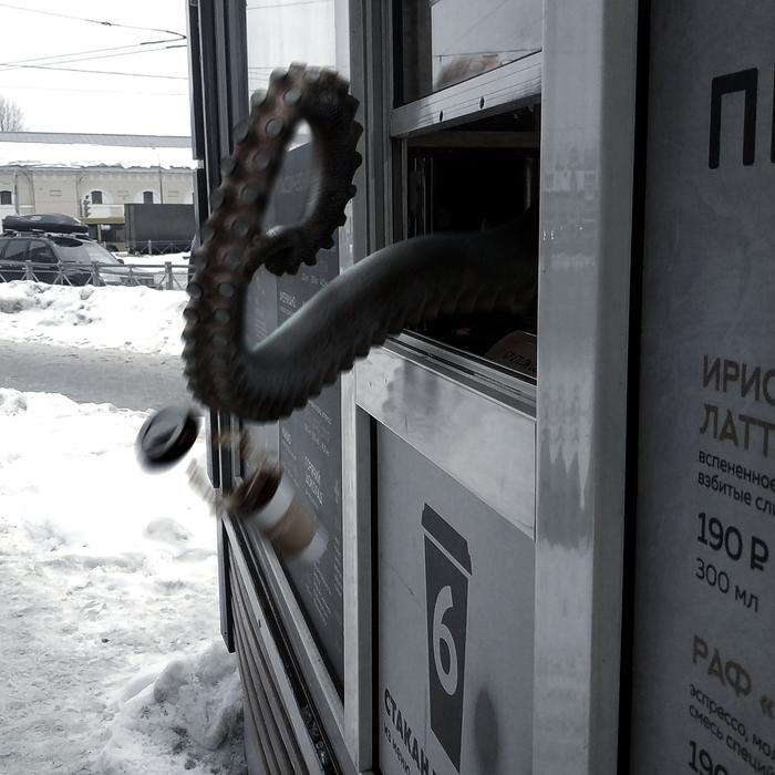 «Бестиарий Петербурга» #6 – ГМ-осьминоги Бестиарий Петербурга, Осьминог, Photoshop, Санкт-Петербург, Длиннопост